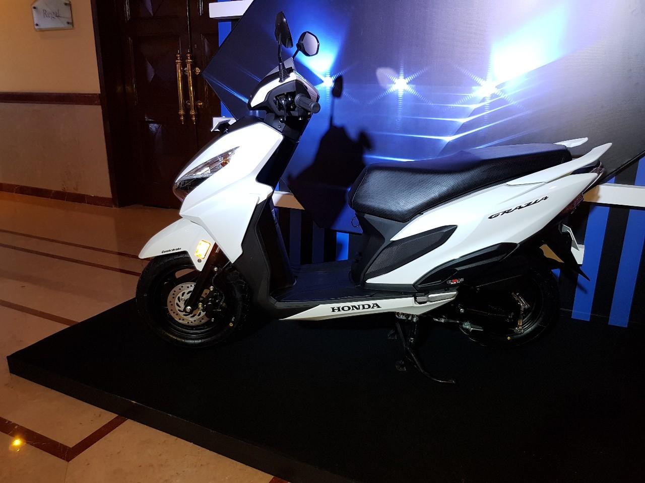 Honda Grazia launch white left side