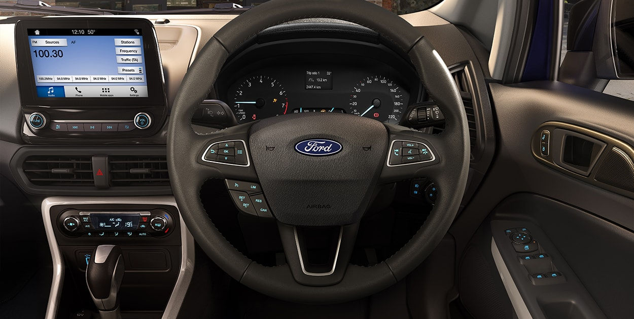 Indian-spec 2018 Ford EcoSport dashboard driver side