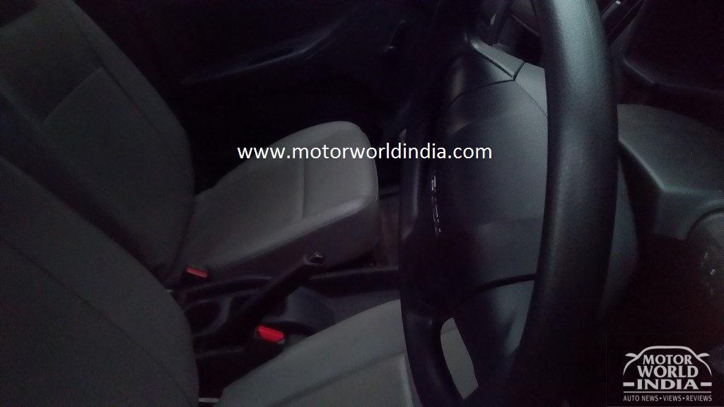 Isuzu D-Max Spark spied steering