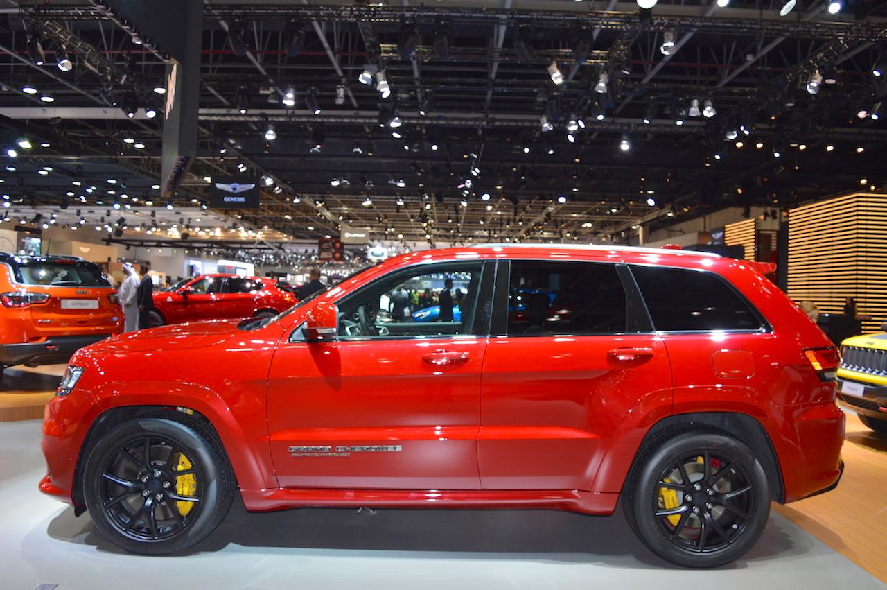 Jeep Grand Cherokee Trackhawk profile at 2017 Dubai Motor Show