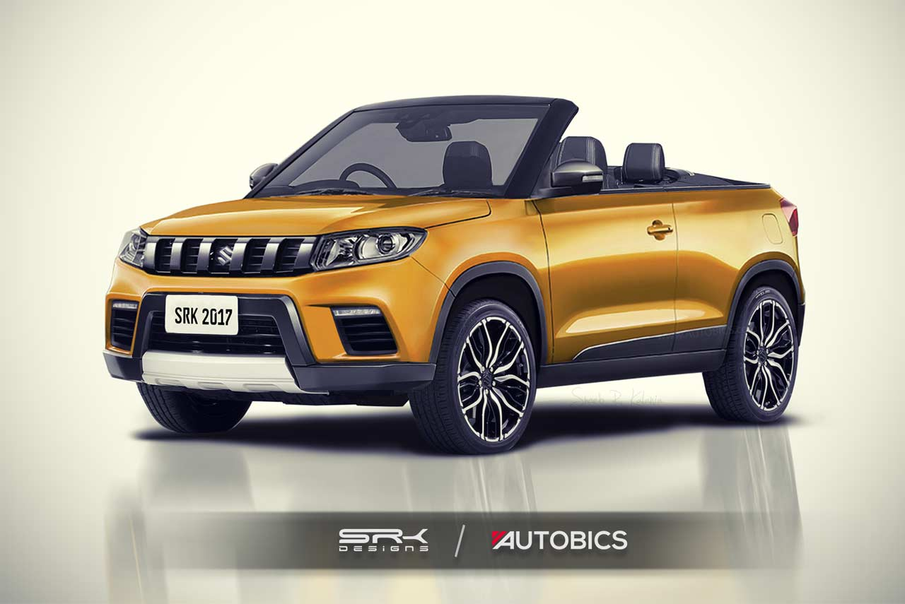 Range Rover Evoke >> Maruti Vitara Brezza convertible rendering with soft fabric top