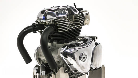Royal Enfield 650 cc parallel twin engine
