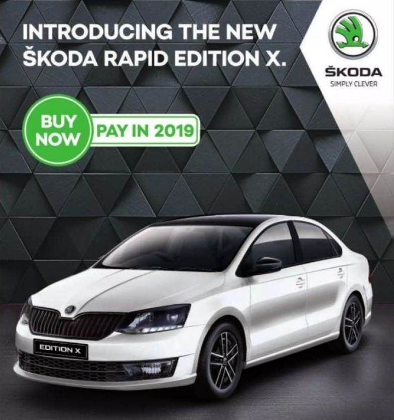 Skoda Rapid Edition X is rebranded Skoda Rapid Monte Carlo
