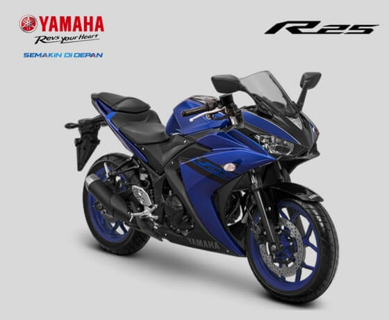 Updated Yamaha YZF-R25 press Blue