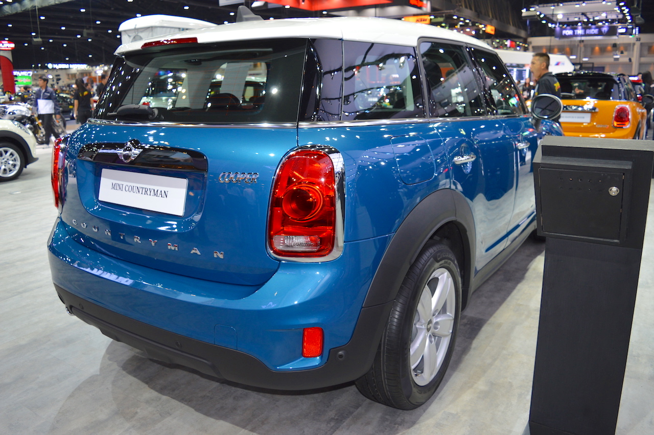 2017 MINI Countryman rear three quarters right side at 2017 Thai Motor Expo