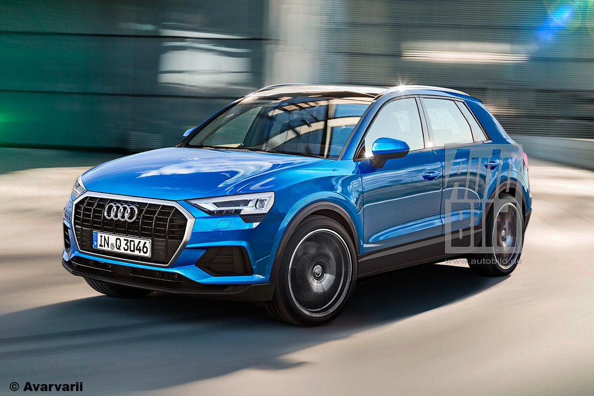 mqb based 2018 audi q3 previewed in unofficial german media renders. Black Bedroom Furniture Sets. Home Design Ideas