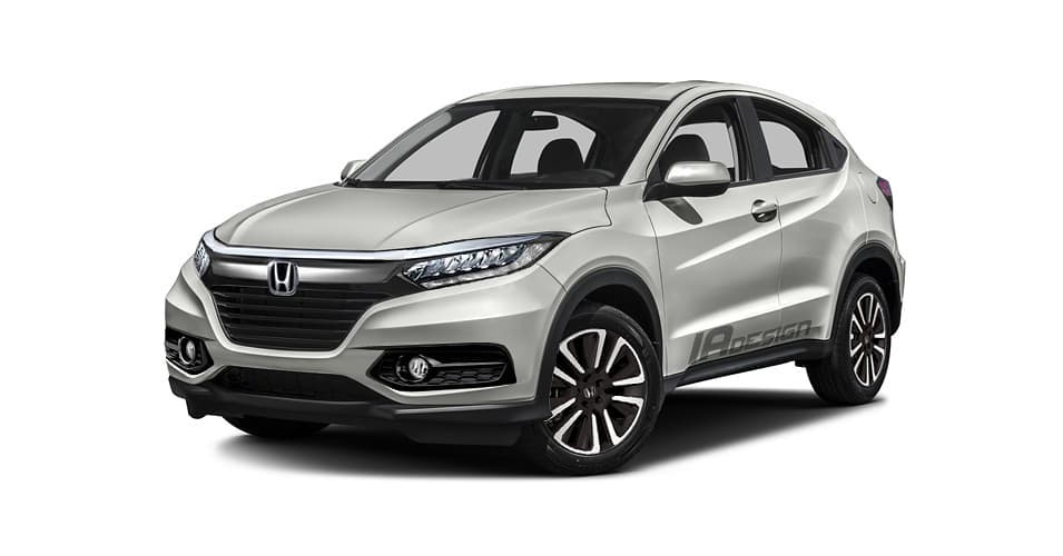 2018 Honda Hr V Facelift Rendered Based On Spy Shot