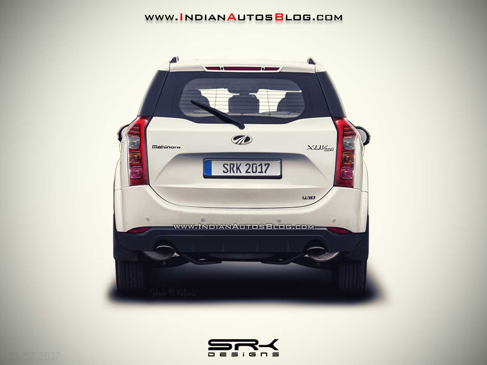 2018 Mahindra XUV500 (facelift) rear rendered by IAB