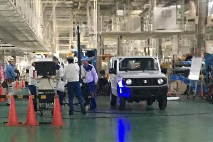 2018 Suzuki Jimny spied undisguised