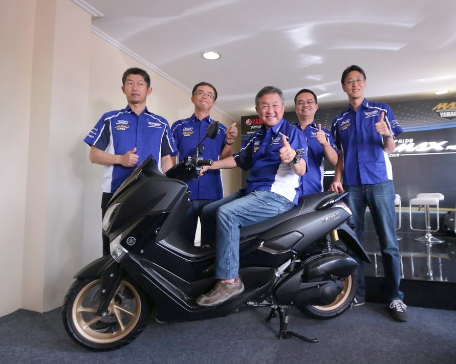 yamaha nmax  indonesia launch black