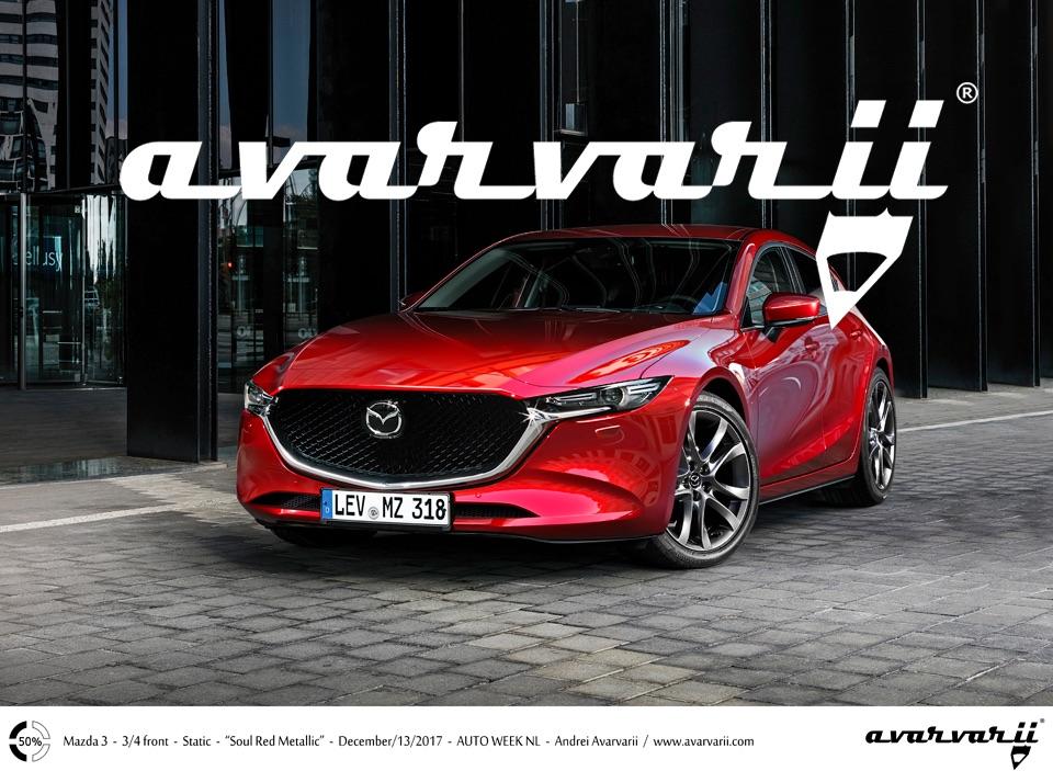 2019 Mazda3 (2019 Mazda Axela) front three quarters rendering