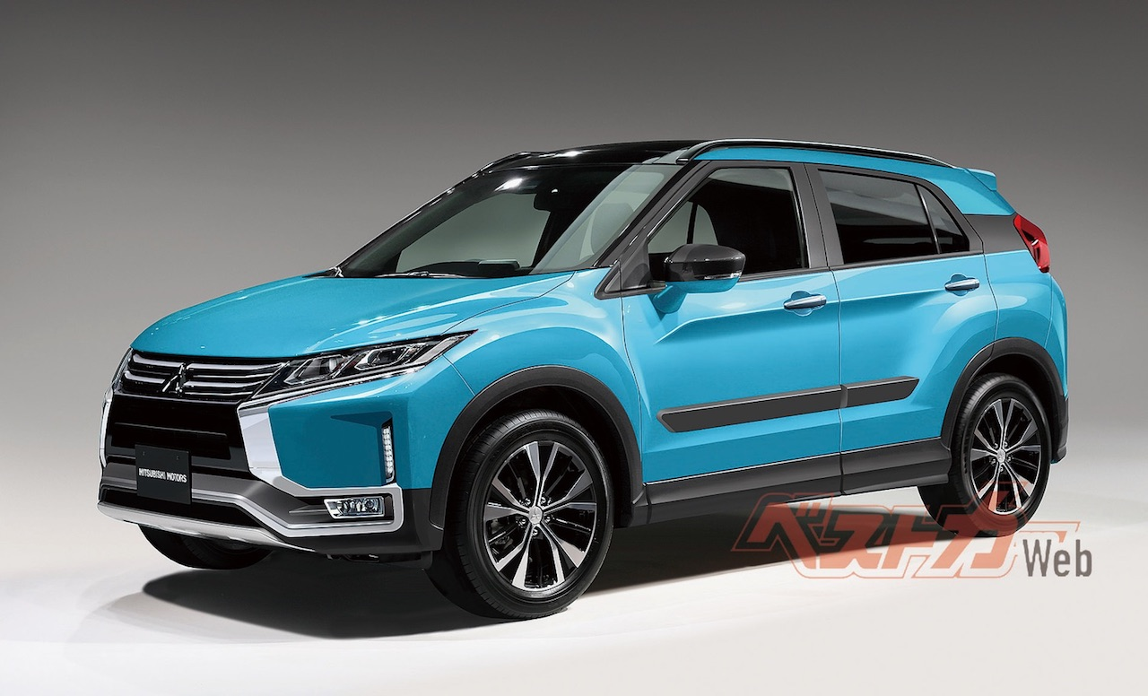 Next Gen Mitsubishi Rvr B Segment Suv Rendered