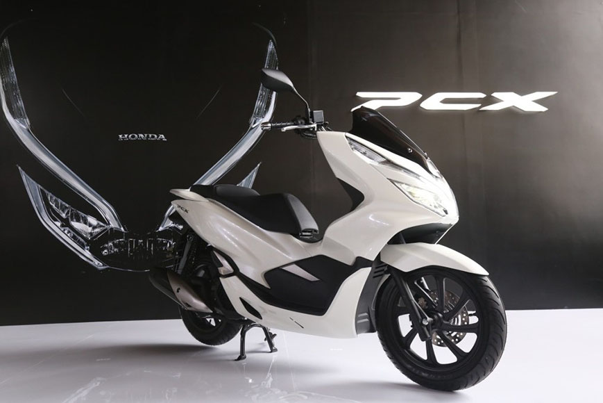 All New Honda PCX 150 Indonesia launch White front right quarter