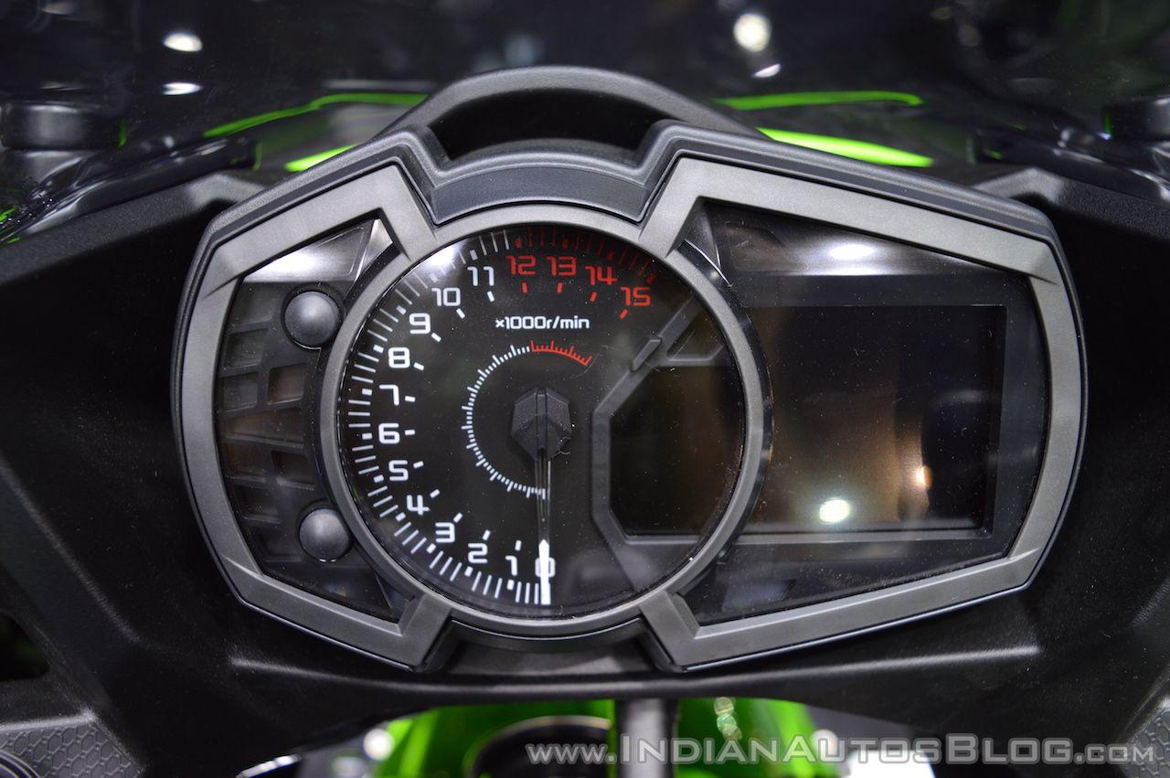 Kawasaki Ninja 650 KRT Edition Instrument Cluster At 2017 Thai Motor Expo