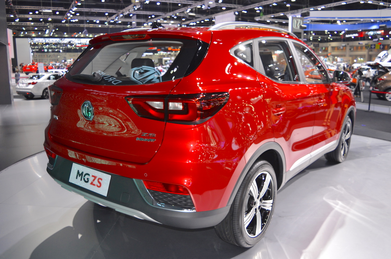 MG ZS rear three quarters at 2017 Thai Motor Expo