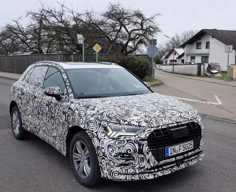Next-gen 2018 Audi Q3 front three quarters spy shot