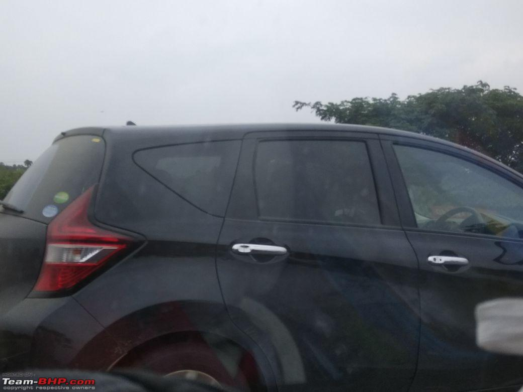 Nissan Note right side India spy shot