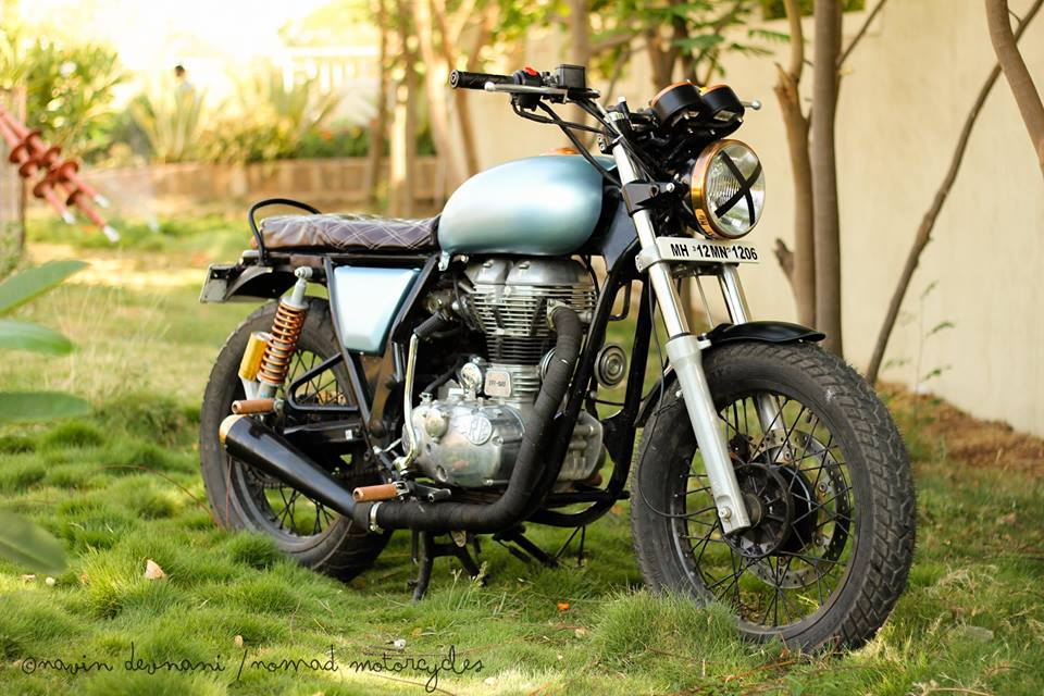 Royal Enfield Continental GT Rudra by Nomad Motorcycles front right quarter