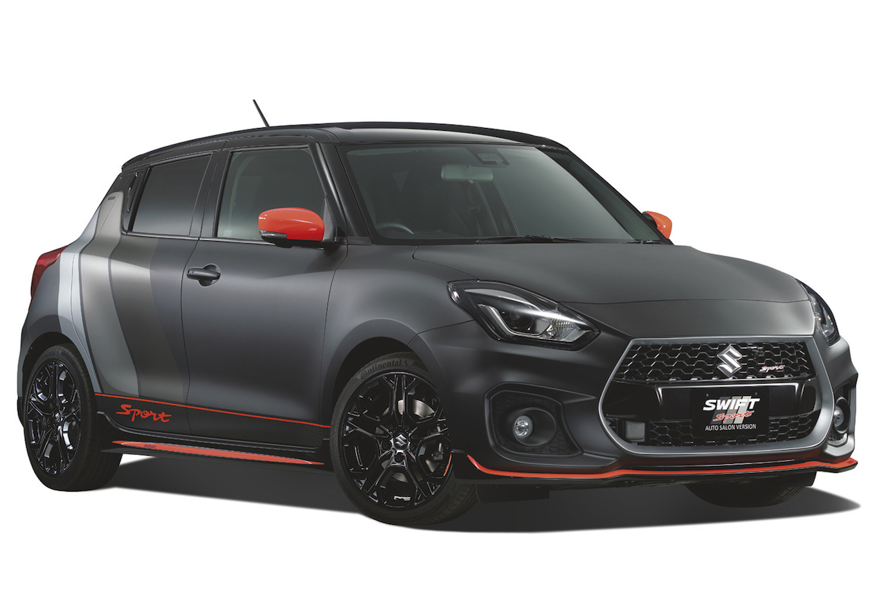 suzuki swift sport auto salon version revealed for 2018. Black Bedroom Furniture Sets. Home Design Ideas