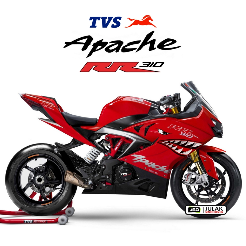 TVS Apache RR 310 Custom Rendering Shark Edition by JSD