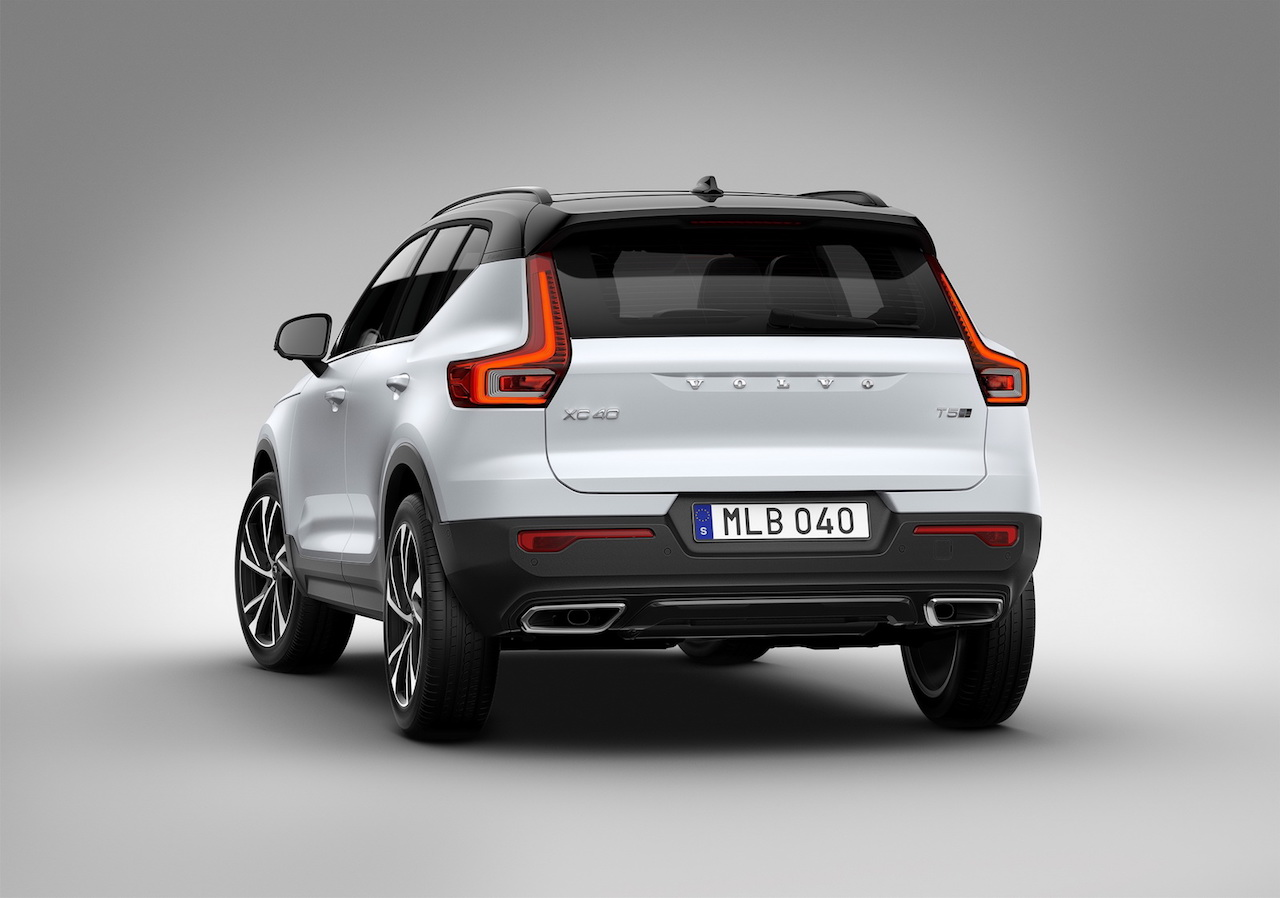 Volvo XC40 rear three quarters