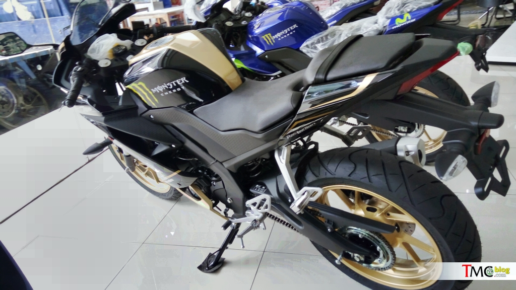 Yamaha R15 v3 0 with custom colours spotted at an Indonesian dealership