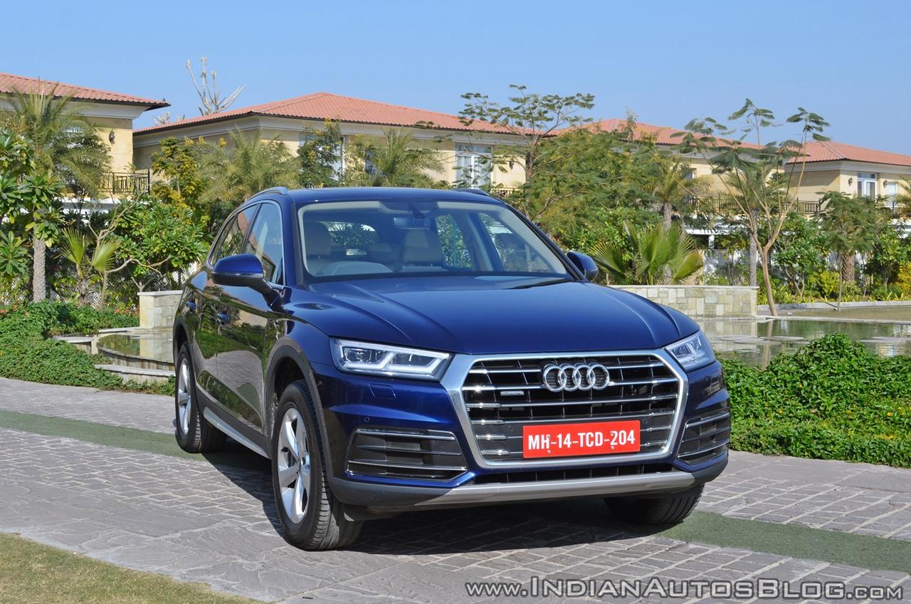 2018 Audi Q5 test drive review front three quarters view