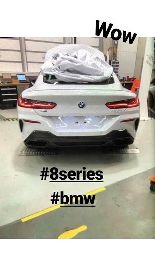 2018 BMW 8 Series Coupe rear leaked image
