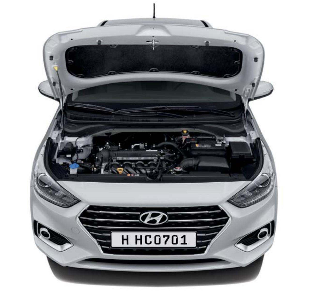 2018 Hyundai Verna engine bay