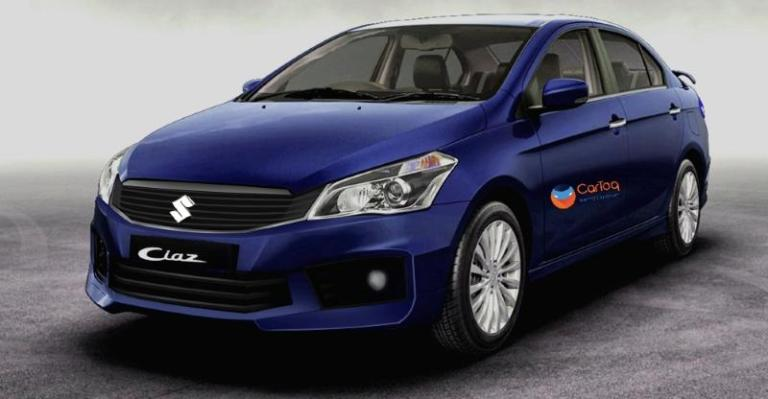 2018 Maruti Ciaz (facelift) blue front three quarters left side rendering