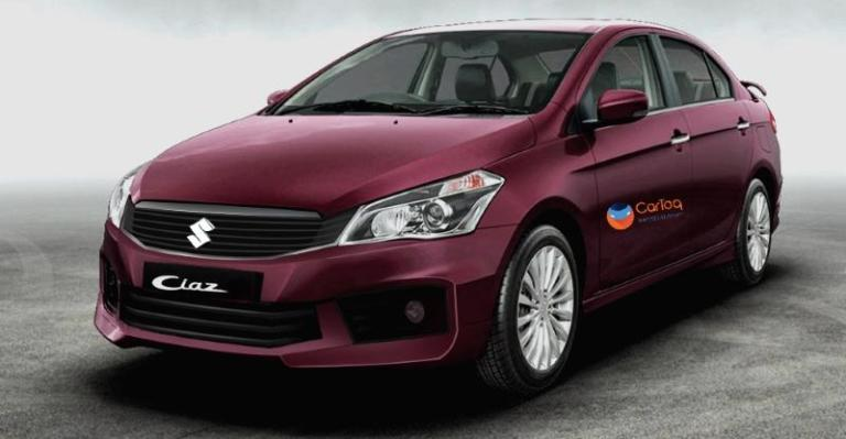 2018 Maruti Ciaz (facelift) front three quarters left side rendering