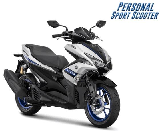 2018 Yamaha Aerox 155 R-version Matte Silver press shot