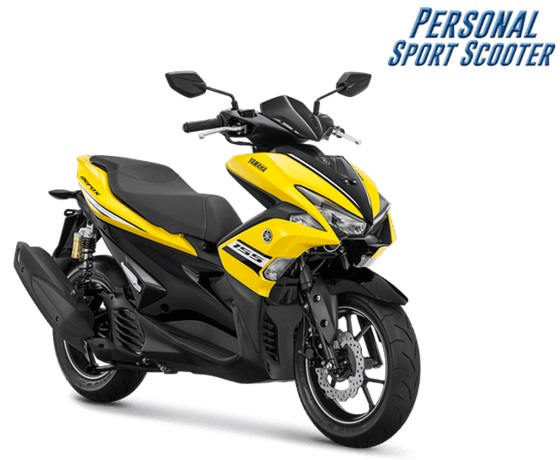 2018 Yamaha Aerox 155 R-version Racing Yellow press shot