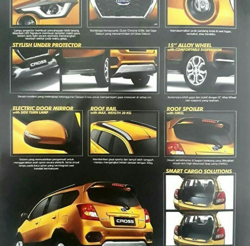 Datsun Cross brochure features leaked image