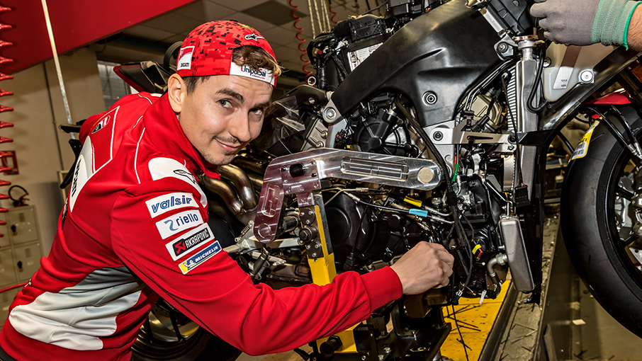 Ducati Panigale V4 engine factory shot