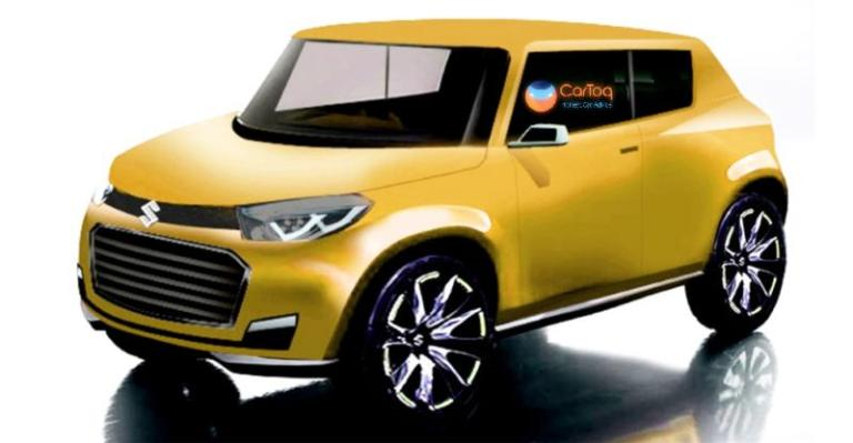 Production Maruti Future S yellow rendering
