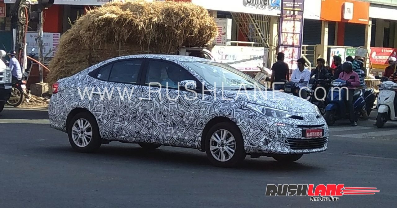 Toyota Vios (Toyota Yaris Sedan) spy shot India