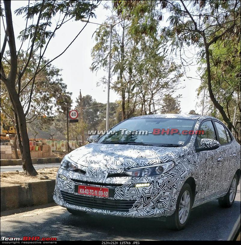 Toyota Yaris Ativ (Toyota Vios) front three quarters spy shot India