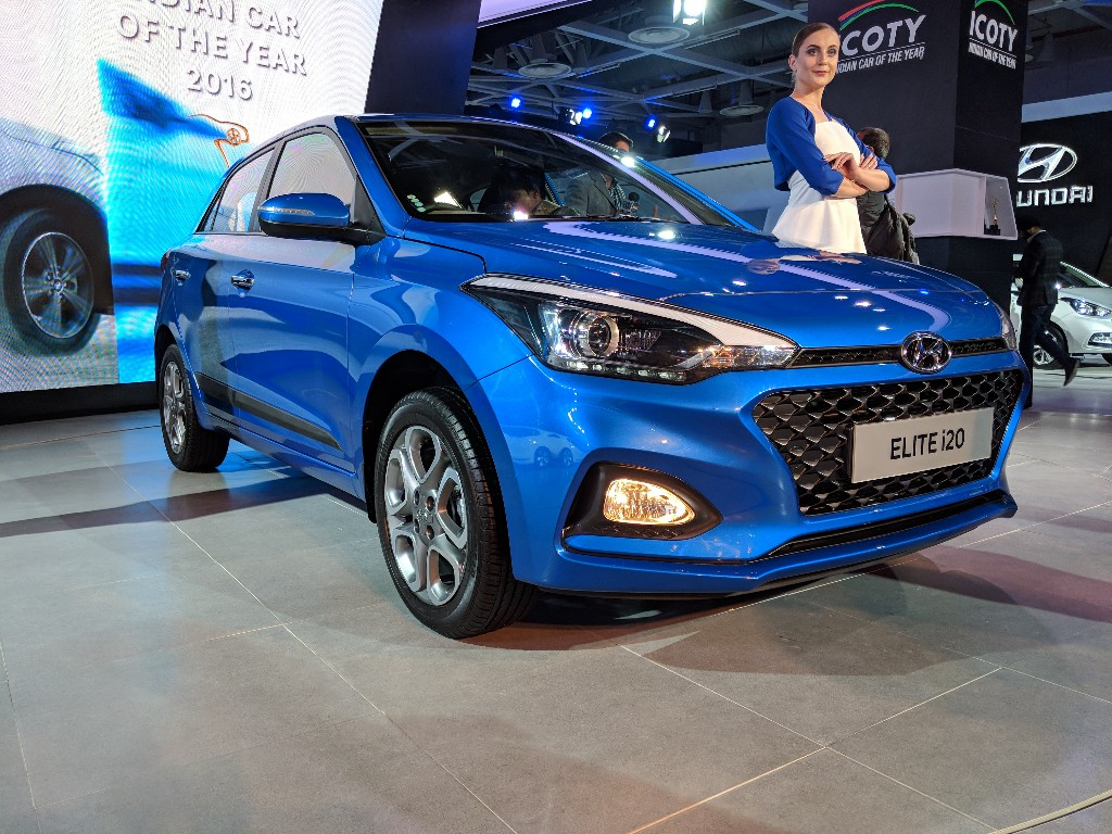 2018 hyundai i20 facelift auto expo 2018 live. Black Bedroom Furniture Sets. Home Design Ideas