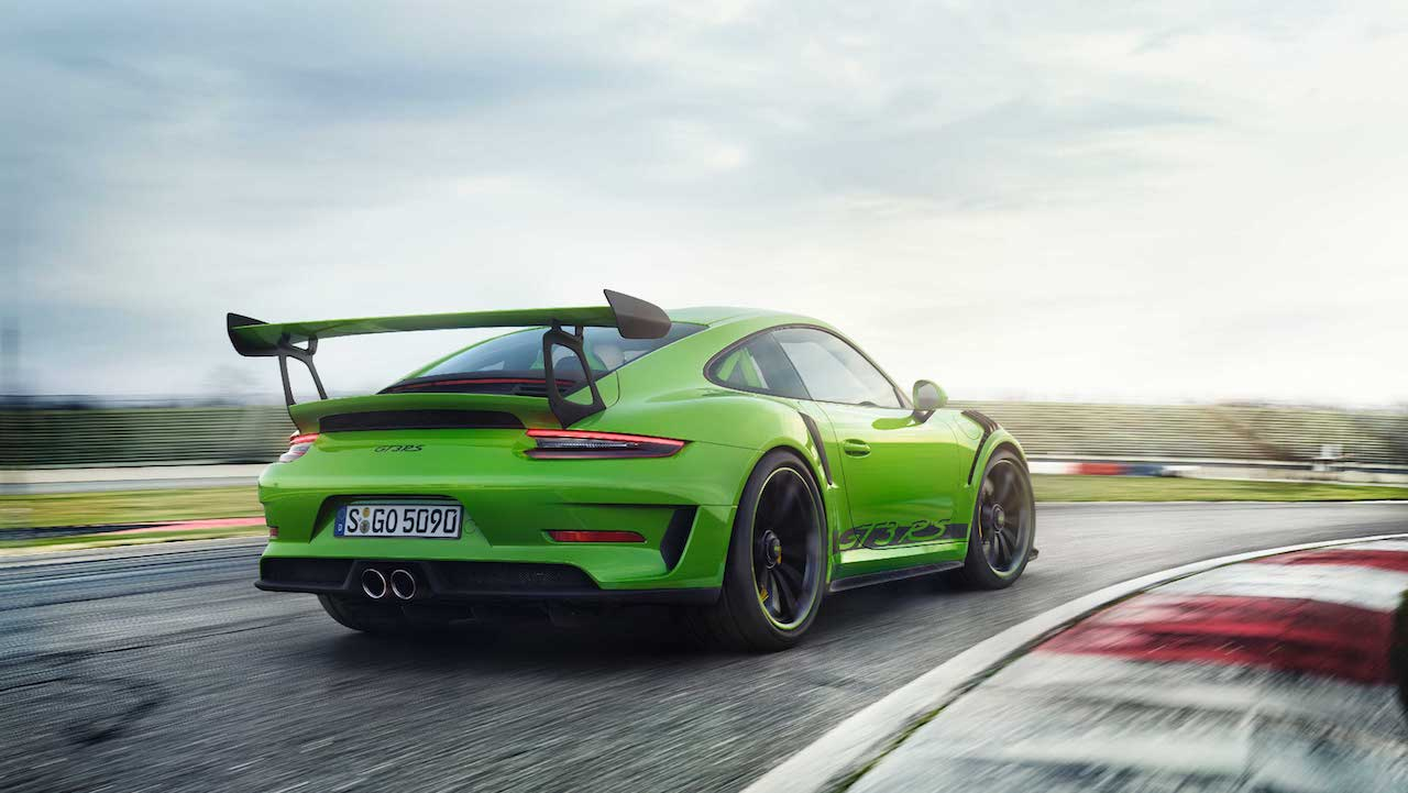 2018 Porsche 911 GT3 RS (facelift) rear three quarters