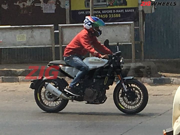 Husqvarna Vitpilen 401 Spied in India right side