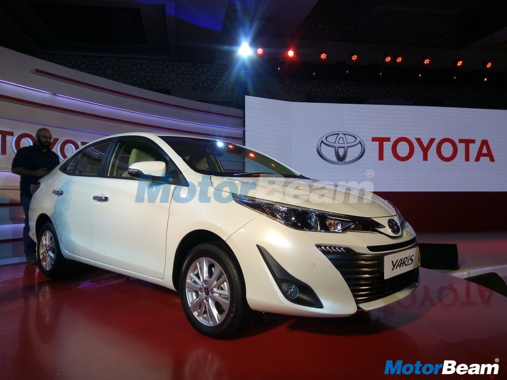 toyota yaris sedan unveiled in india to launch in april