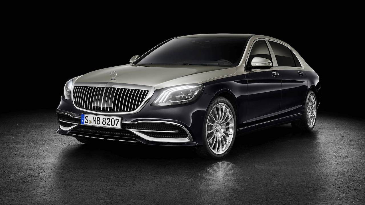 Mercedes-Maybach S-Class with customisations front three quarters