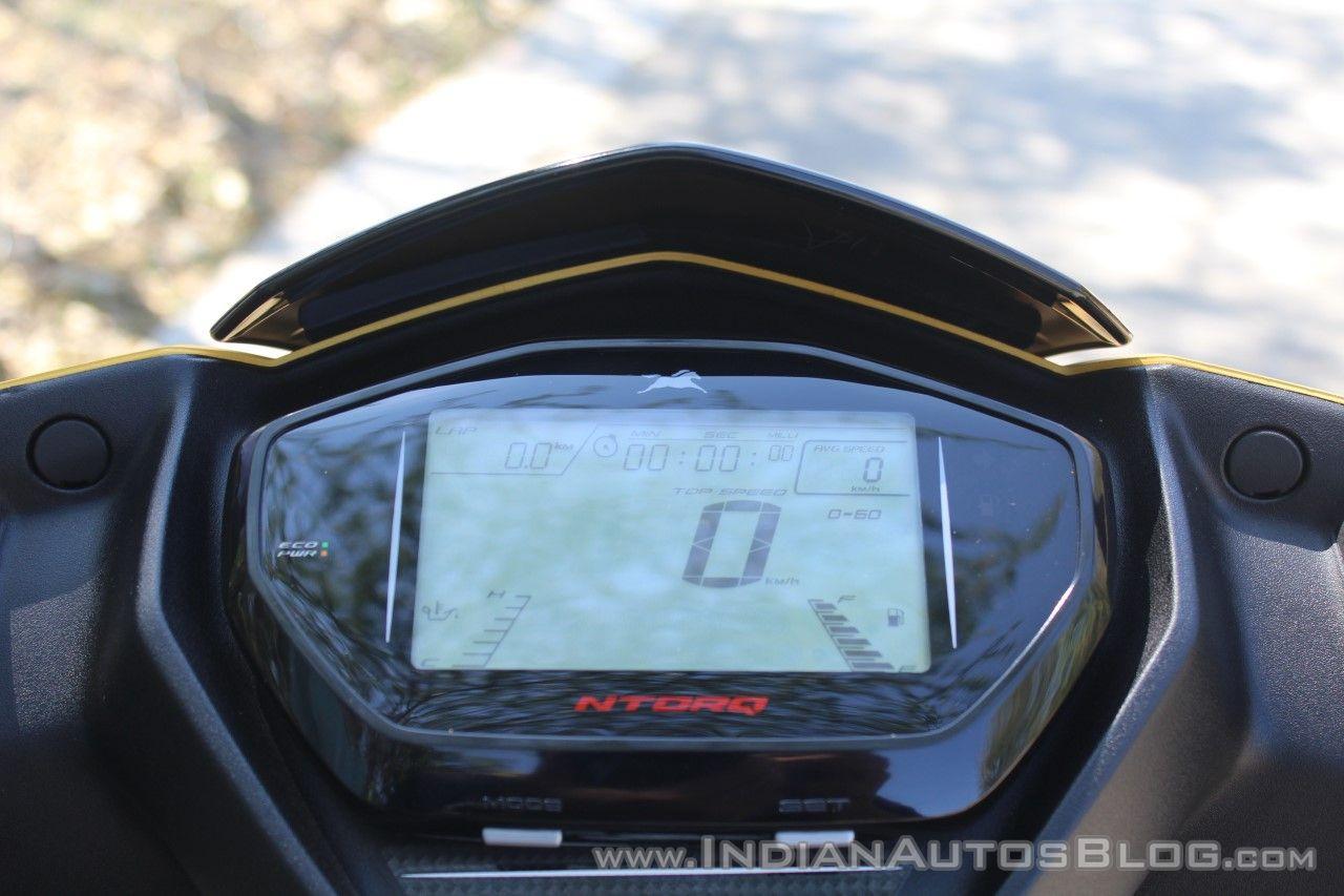 TVS Ntorq 125 cluster sport mode first ride review