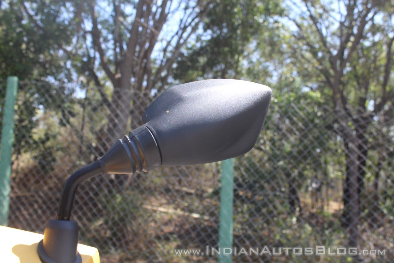 TVS Ntorq 125 rear view mirror first ride review