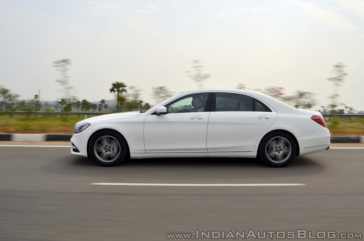 2018 Mercedes-Benz S-Class review test drive side action shot