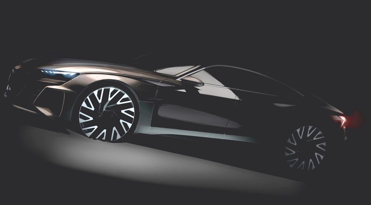 Audi e-tron GT design sketch