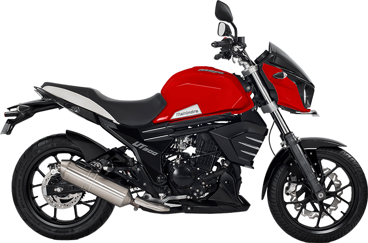 Mahindra Mojo UT300 Red press right side