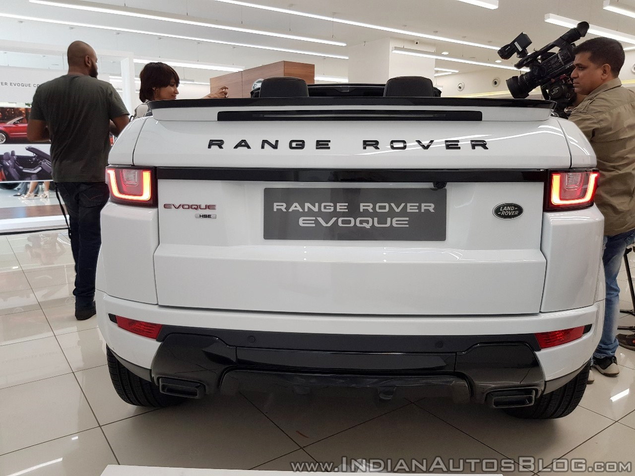 Range Rover Evoque convertible rear
