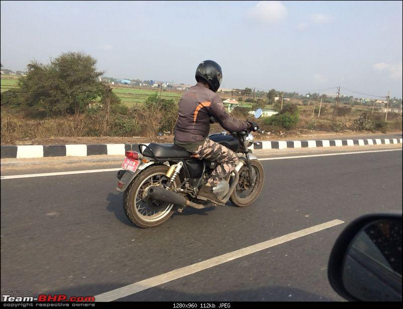 Royal Enfield Interceptor INT 650 spied again post unveil rear right quarter